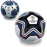 Mondo Mondo-13845 Toys-Pallone da Calcio da Uomo-UEFA Champions League-Size 5-350 Bianco/Nero/Blu-13845, Colore Bianco/Nero/B