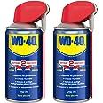 WD-40 - Produit Multifonction - Spray Double Position - Sans Silicone - Non Conducteur - Compatible Plastiques, Caoutchoucs,