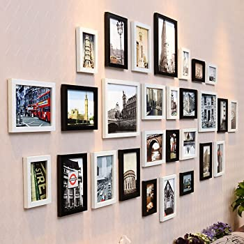 WollWoll European UK Theme Popular Monuments and Buildings Extra Large Wall Decoration Photo Frame Set (232 cm x 1.6 cm x 99 cm)
