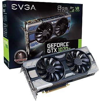 EVGA 08G-P4-6775-KR - Tarjeta gráfica (GeForce GTX 1070 Ti FTW2 Gaming iCX 8 GB), Color Negro