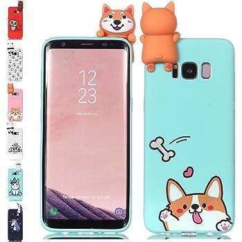 f5da14108a Universecase Case for Samsung Galaxy J6 2018, Corgi Light Green Squishy  Kawaii Animal 3D Cute