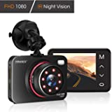"Dash Cam 1080P FHD DVR Car Driving Recorder Supper Night Vision Dashcam 2.7"" LCD Screen 170 Degree Wide Angle, G-Sensor, Park"