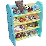 eHomeKart Toy Storage Organizer for Kids - Playgro Multi-Purpose Shelves for Storage - 8 Multi-Colour Bins Shelves/Book Shelf