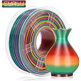 SUNLU Filamento PLA Multicolor 1.75, Stampante 3D PLA Rainbow Filamento 1kg Spool Tolleranza del diametro +/- 0,02 mm, PLA Arcobaleno