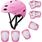 SKL Casque de vélo de Scooter BMX pour Enfants,Genou en Gel, protège-Coudes et protège-Mains
