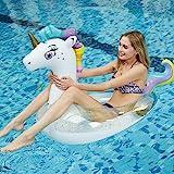 JCT Gonfiabile Unicorno Gonfiabile Piscina Galleggiante Anello di Nuoto Giocattoli Piscina per Festa Adulti Esterno Spiaggia