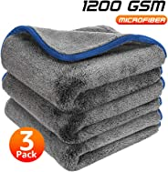 Healsell Car Drying Wash Towel Microfiber Cleaning Buffing Cloth Lint Free Premium Professional Soft Super Absorbent Ultra T