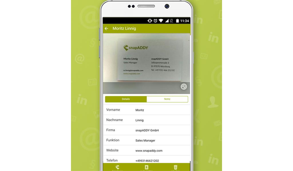 Snapaddy Visitenkartenscanner Amazon De Apps Für Android