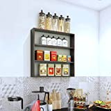 Furnifry Wooden Wall Mounted Shelves for Kitchen / Kitchen Storage Shelf / Wall Shelf / Kitchen Shelf for Home / Kitchen Wall
