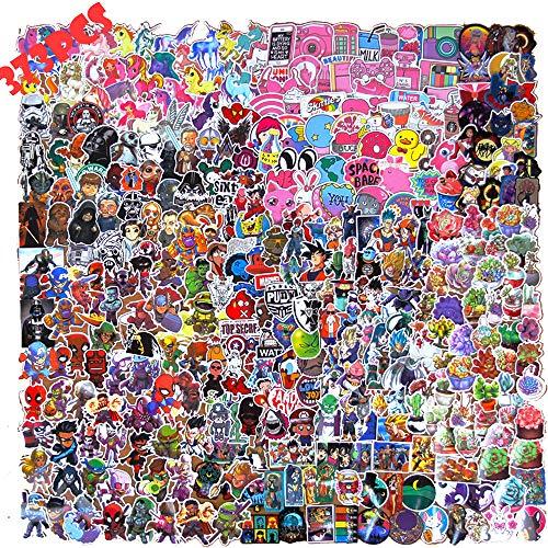 Hopasa Comic Pack Adesivi per Bambini (373 Pezzi), Graffiti Cute Decals per Laptop, Skateboard, PS4, Xbox, iPhone, Bomboniere per Ragazze, Adulti, Ragazzi, Ragazzi