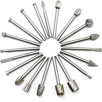 Drilling Polishing Metal Craving Engraving Petansy 10pcs Double Cut Titanium Carbide Rotary Burr Set Drill Rotary Bit Double-Cut Tungsten Carbide Sets for Woodworking