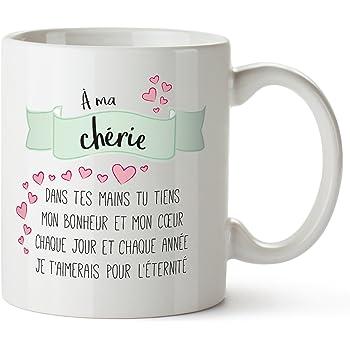 Tasse Romantique Poeme D Amour Imprime A Ma Cherie Standard
