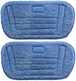 SPARES2GO Hard Floor Covers / Microfibre Cloth Pads for Morphy Richards 70465 720501 Steam Cleaner Mop (Pack of 2)