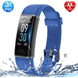 HolyHigh Fitness Band Heart Rate & Sleep Monitor Smart Band with Call Whatsapp Messages Alert Digital Watch Step Counter…