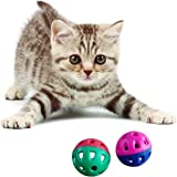 Pets Interactive Kitten Ball Toy with Bell Teaser, 1.5 Inches -Set of 2