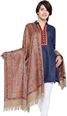 Weavers Villa - Women's Faux Pashmina Silk Paisley Design Shawls, Stoles