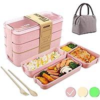 Lunch Box avec Sac Isolant,Bento Box,Anti-Fuite Écologique Boîtes Bento,3 Compartiments Anti-Fuite Écologique Boîte de…