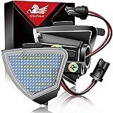 WinPower LED Vingspegel Puddljus Backspegel 6000K Vit Felfri Kompatibel med Volkswagen Golf/Pa-ssat/Je-tta/Sha-ran etc, 2 Sty