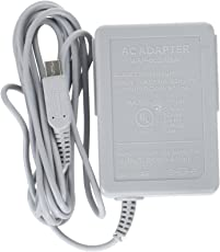 Gino Nintendo 3DS US Plug AC 100-220V Plastic Power Charger Adapter (Grey)