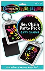 Melissa and Doug Key Chains Scratch Art Party Pack, Multi Color
