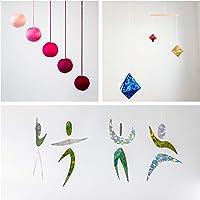 Set of 3 Montessori inspired mobiles - Pink Gobbi, Dancers, Octahedron. Montessori mobile. Baby mobile. Hanging mobile…