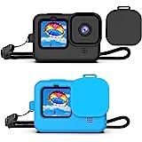 Deyard Funda Protectora de Goma de Silicona para cámara de acción GoPro Hero 9 Negra, Carcasa Protectora para GoPro Hero 9 Ne
