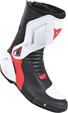 Dainese-NEXUS Stivali da moto, Nero/Bianco/Lava-Rosso, Taglia 43