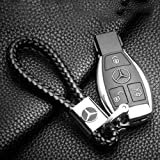OPAYIXUNGS Metall-Schlüsselanhänger Schlüsselanhänger für Mercedes Benz AMG aus Leder
