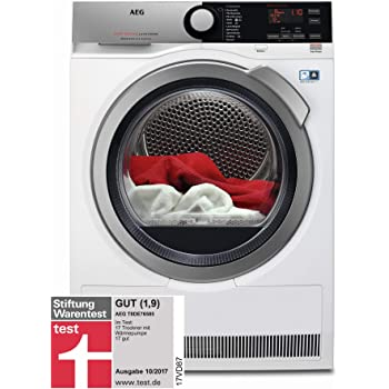 AEG T8DE76585 Wäschetrockner Frontlader/Energieklasse A++ (235 kWh pro Jahr)/8 kg/kein Einlaufen der Wäsche/Kondenstrockner mit Wärmepumpe/effizienter Wärmepumpentrockner/weiß