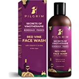 Pilgrim Red Vine Face Wash Cleanser with Vit C & goodness of Aloe for Anti Ageing, De-Pigmentation, Dark Spots Removal, Dry,