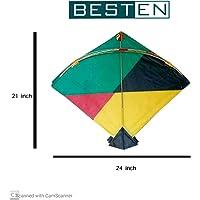 besten Paper Kite Medium Size (53.34*60.96) cm ,Multi Colour, Pack of 20
