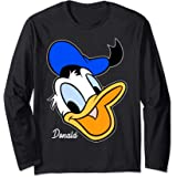Disney Mickey And Friends Donald Duck Big Face Signature Manche Longue