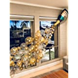 """Party Propz Champagne Foil Party Balloons Garland Set-82Pcs With Confetti Balloon, 5"""" and 12"""" Metallic Baloon Decoration Kit"""