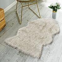 Nordmiex Non Skid Backing Faux Fur Sheepskin Rug-Deluxe Soft Faux Sheepskin Chair Cover, Seat Cushion Pad Plush Fur Area...