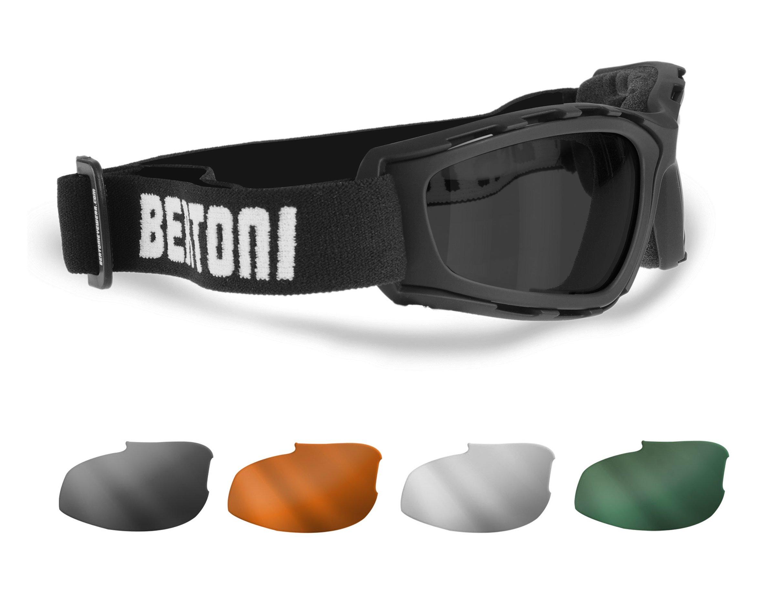 Masque moto Bertoni AF120b Noir 1