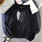 Attack on Titan Unisex Hoodie Youth Men's Women's Long Sleeve Casual Winter Pullovers Printing Hooded Top Cosplay Costume Jum