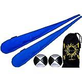 Flames N Games Pro sokkenpoi set (blauw) sock poi (incl. 2 x beanbags ballen) + reistas. Swinging Poi en spinning Pois! Pois