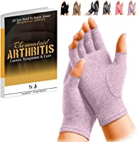 SyeJam Rheumatoid Arthritis Gloves Fingerless- Warmth Therapeutic Compression Gloves for Pain Relief- Support & Improve...