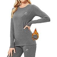 MeetHoo Biancheria Intima Termica Donna, Funzione Set da Sci Maglia+Pantaloni Termici Base Layer Riscaldante Sport…