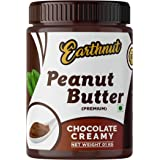 Earthnut Chocolate Peanut Butter Creamy 1Kg (Gluten Free / Non-GMO / Vegan) | Made with Roasted Peanuts, Cocoa Powder & Choco