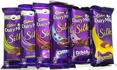 Throni Cadbury Dairy Milk Silk Pack Of 6 Combo,335Gms