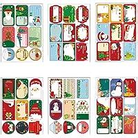 216 Pièces Stickers Étiquettes de Noël Stickers Étiquettes de Cadeaux Auto-Adhésives pour la décoration de Noël…