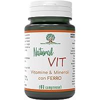 Natural Vit Integratore Multivitaminico e Multiminerale - Rafforza le difese immunitarie - Vitamine e Minerali per Uomo…