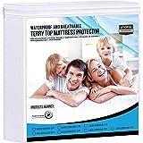 Utopia Bedding Premier 200 gsm 100% Impermeabile Materasso Protettore, Coprimaterasso in Cotone Terry, Traspirante, Stile Mon