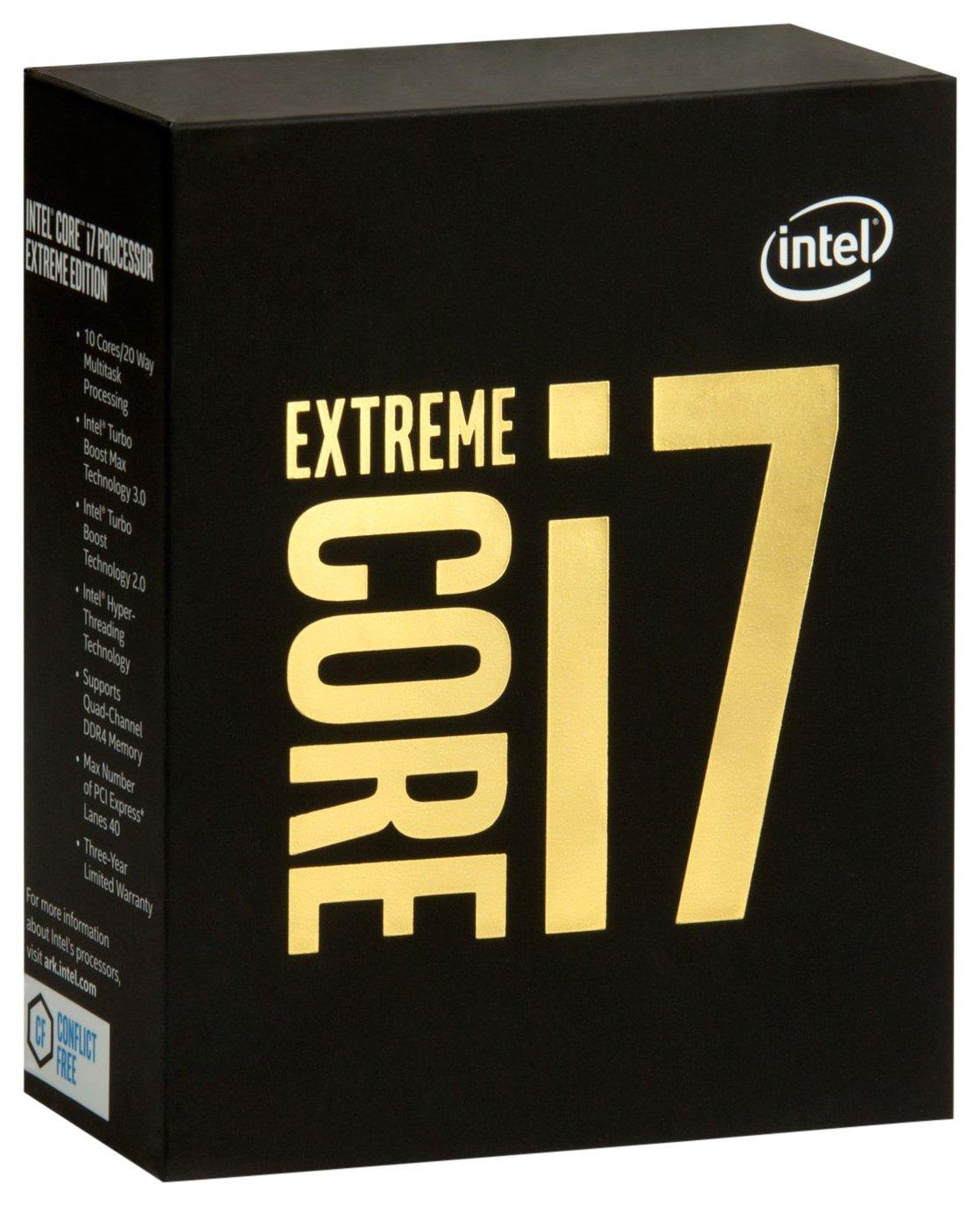 Intel Core i7-6950X 3GHz 20MB Smart Cache Box - processors (Intel Core i7-6xxx, LGA 2011-v3, PC, i7-