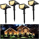 【4 Pack 32 LED】Spot Solaire Extérieur, Jior Eclairage Extérieur Solaire IP67 Etanche clairage Applique 3 modes, Réglable 180°
