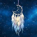 Hongyans Attrape de Rêves LED, Faite Main Capteur de Rêves en Plumes Lumineux Dream Catcher pour Chambre Maison Décoration Te