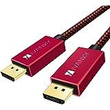 IVANKY Cable DisplayPort, 3M Cable DP [4K@60Hz, 2K@144Hz, 2K@165Hz] Nylon Trenzado Cable Display Port de Alta Velocidad Compa