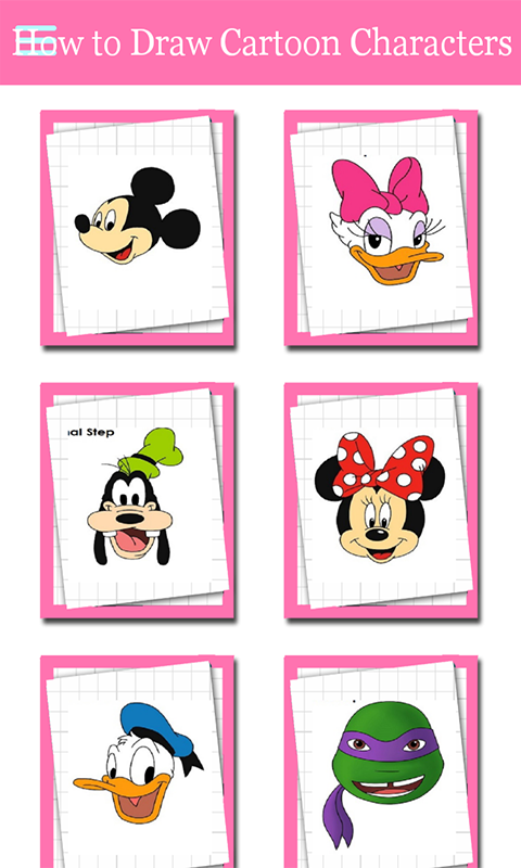 Draw Famous Cartoon Characters Step By Step Amazon Co Uk Appstore For Android