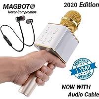 MAGBOT Wireless Microphone hifi speaker Mike Portable Handheld Mic with Bluetooth Speaker for speech, singing kids (Bluetooth Headphones Free)